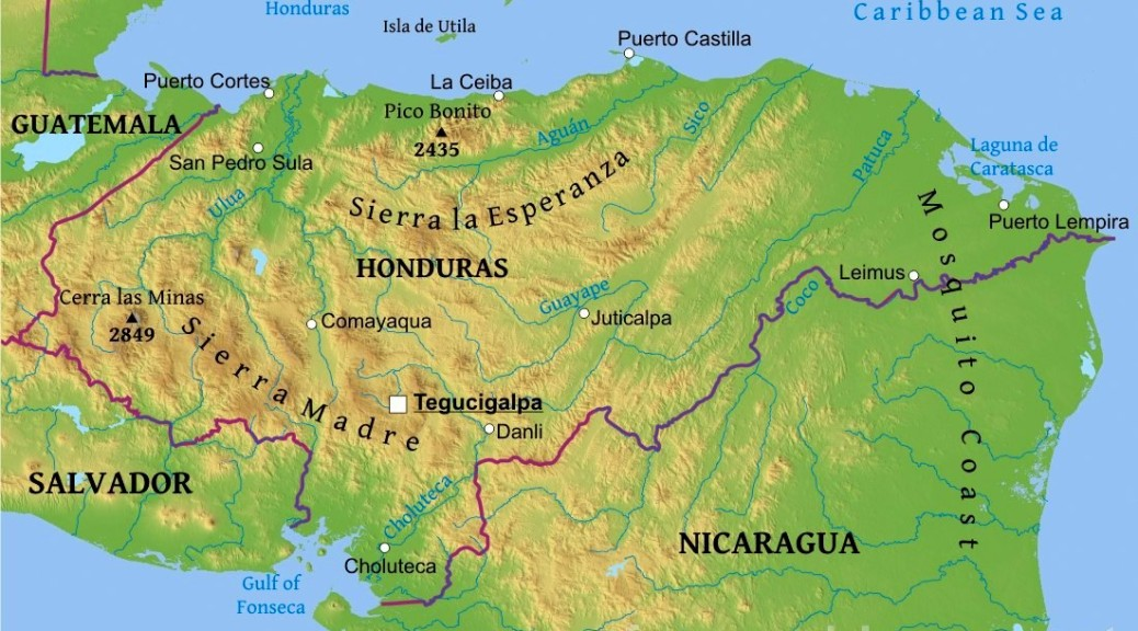 honduras-map-physical copy 2